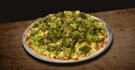 Mini Pizza de Brócolis