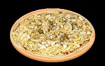 Pizza de Champignon com palmito