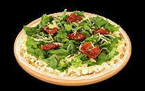 Pizza de Rúcula com Tomates Secos